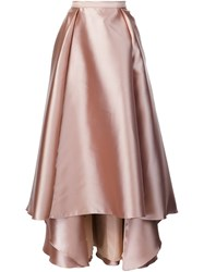Badgley Mischka Long Full Skirt Nude And Neutrals
