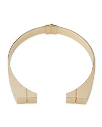 24K Engraved Bar Choker Necklace Gold Jason Wu