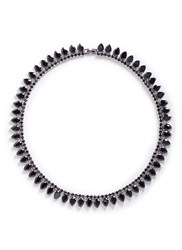 Fallon 'Monarch Pointed' Cubic Zirconia Brass Choker Black