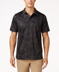 Tasso Elba Men's Patchwork Performance Polo Only At Macy's Dark Grey Combo