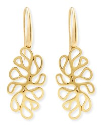Miseno Sealeaf Collection 18K Yellow Gold Earrings
