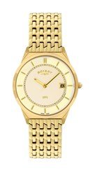 Rotary Gb08002 03 Gold Mens Watch