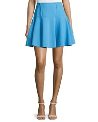 Prabal Gurung Mid Rise Flounce Mini Skirt Blue