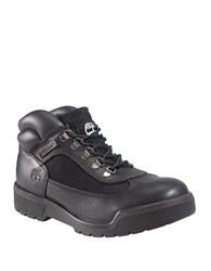 Timberland Field Leather And Waterproof Canvas Lug Sole Boots Black