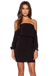 T Bags Losangeles Off Shoulder Mini Dress Black