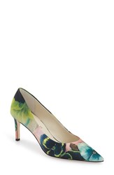 Women's Bettye Muller 'Annie' Pointy Toe Pump Pink Paisley Silk