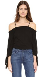 Ella Moss Solid Off Shoulder Blouse Black