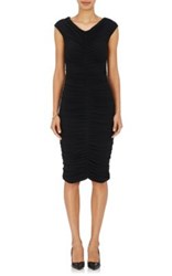 The Row Women's Hali Ruched Body Con Dress Black