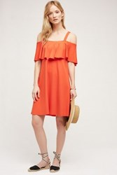 Anthropologie Rory Off The Shoulder Dress Bright Red