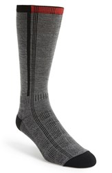 Men's Wigwam 'Rebel Fusion Ii' Hiking Crew Socks Charcoal Red