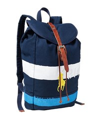 Polo Ralph Lauren Striped Canvas Backpack Navy