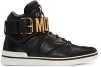Moschino Black Logo High Top Sneakers