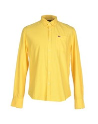 Napapijri Shirts Shirts Men Yellow