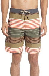 Patagonia Men's 'Wavefarer' Print Board Shorts Industrial Green