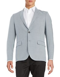 Brooks Brothers Houndstooth Wool Suit Jacket Blue