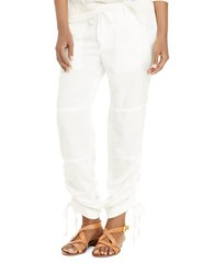 Lauren Ralph Lauren Skinny Fit Drawstring Pants White