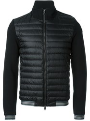 Moncler Padded Front Cardigan Black