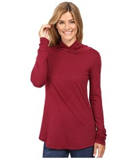 Mod O Doc Supreme Jersey Slouchy Crossover Funnel Tunic Chianti Women's Clothing Red