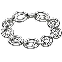 Kit Heath Sterling Silver Infinity Link Bracelet Silver