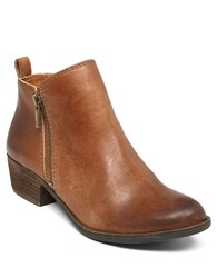 Lucky Brand Basel Zip Up Booties Brown