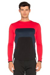Dyne Roemer Paneled Long Sleeve Red