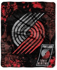 Northwest Company Portland Trail Blazers Raschel Shadow Blanket Red