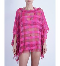 Missoni Fringed Striped Tunic Pink 6021