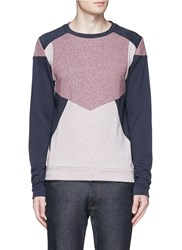 Scotch And Soda Patchwork Fleece Lined Sweatshirt Red