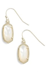 Kendra Scott Women's 'Lee' Small Drop Earrings Ivory Mother Of Pearl Gold Ivory Mother Of Pearl Gold