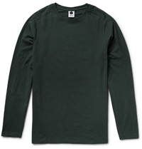 Nn.07 Slim Fit Pima Cotton Blend Jersey T Shirt Green