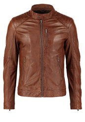 Oakwood Agency Leather Jacket Tobacco Cognac
