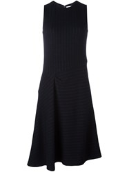 08Sircus Pinstripe Asymmetric Skirt Dress Black