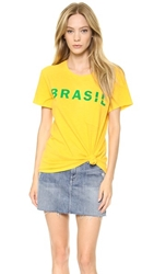 Textile Elizabeth And James Brasil Bowery Tee Yellow Green