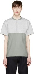 Tim Coppens Grey And Green Woven Henley
