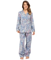 Lauren Ralph Lauren Petite Cotton Sateen Pajamas Blue Paisley Women's Pajama Sets