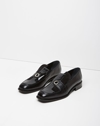 J.W.Anderson Leather Eyelet Loafer Black