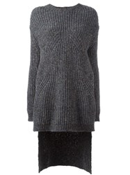 N 21 Nao21 Step Hem Sweater Grey
