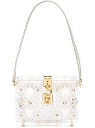 Dolce And Gabbana 'Dolce' Box Shoulder Bag Nude And Neutrals