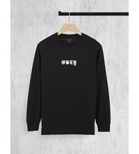 Obey Spider Rose Cotton Jersey Top Black