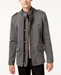 Guess Men's Knit Military Jacket Grey