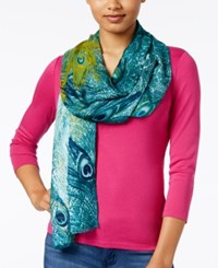 Inc International Concepts Peacock Pashmina Wrap Only At Macy's Turquoise