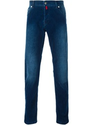 Kiton Straight Fit Jeans Blue