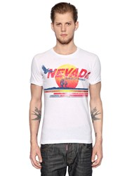 Dsquared Nevada Printed Cotton Jersey T Shirt