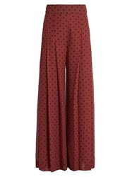 See By Chloe Wide Leg Pleated Culottes Burgundy