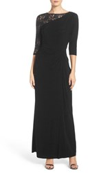 Ellen Tracy Women's Sequin Lace And Jersey Gown