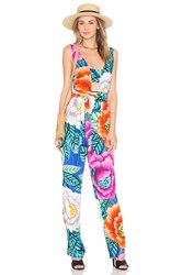 Mara Hoffman Cut Out Front Jumpsuit Pink