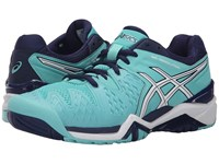 Asics Gel Resolution 6 Pool Blue White Indigo Blue Women's Tennis Shoes