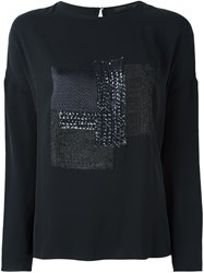 Fabiana Filippi Sequin Embellished Sweatshirt Black