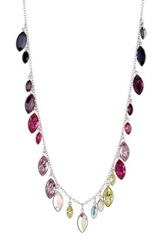 Tody Multicolor Marquise Swarovski Crystal Charm Necklace