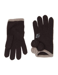 Blumarine Gloves Dark Brown
